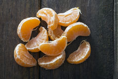 Mandarin orange sections Stock Photography