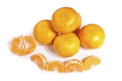 Mandarin orange and segments Stock Image