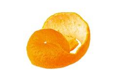 Mandarin orange skin. On white ground Stock Image