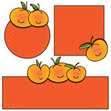 Mandarin orange small card Stock Photo