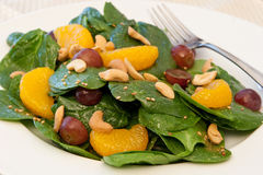 Mandarin Orange Spinach Salad Royalty Free Stock Photos