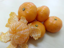 Mandarin Orange / Tangerin : Freshy Fruit Royalty Free Stock Photography