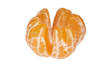 Mandarin orange. On white ground Royalty Free Stock Photography