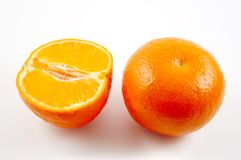 Mandarin oranges. With  Clipping Path Stock Photo