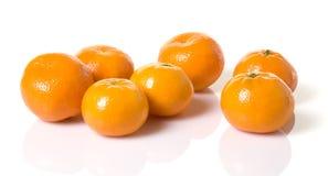 Mandarin Oranges. Grouping of small mandarin oranges stock images