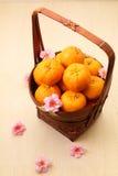 Mandarin oranges in basket - Series 4 Stock Photos