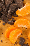 Mandarin Oranges with Chocolate Chunks Royalty Free Stock Photos