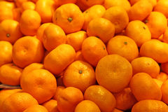 Mandarin oranges in a farmers' market Royalty Free Stock Photo