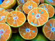 Mandarin oranges. In the fresh market Royalty Free Stock Photography