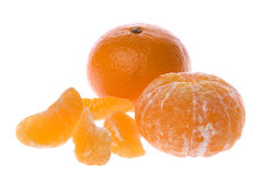 Mandarin Oranges Isolated Stock Photo