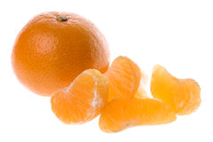 Mandarin Oranges Isolated Royalty Free Stock Photography