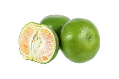 mandarin oranges isolated on white Royalty Free Stock Photo