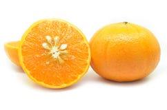 Mandarin oranges with segments Stock Photos
