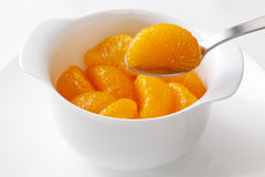 Mandarin Oranges and Spoon Royalty Free Stock Image