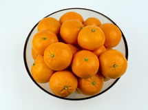 Mandarin oranges from the top Stock Images