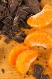 Mandarin Oranges With Chocolate Chunks Royalty Free Stock Photos