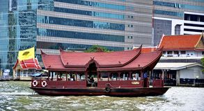 The Mandarin Oriental Bangkok shuttle boat on Chao Praya river Royalty Free Stock Photography