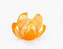 Mandarin peel in the form of a flower Stock Images