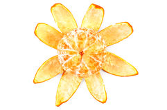 Mandarin on the peel by purified on top Stock Photos