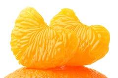 Mandarin peeled slice. Stock Photography