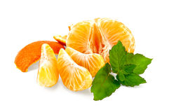 Mandarin purified with mint and slices Royalty Free Stock Images