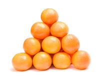 Mandarin pyramid Royalty Free Stock Photo
