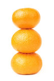 Mandarin pyramid three isolated Stock Photography