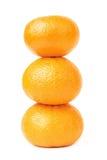 Mandarin pyramid three isolated. Mandarin pyramid isolated on white background Stock Photography