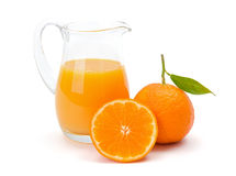 Mandarin (satsuma or tangerine) juice Royalty Free Stock Images