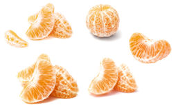 Mandarin section segment on white background. Orange fruit. Mandarin section segment on white background Stock Photography