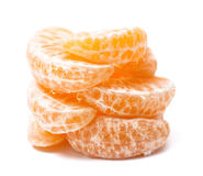 Mandarin section segment on white background. Orange fruit. Mandarin section segment on white background Royalty Free Stock Photo