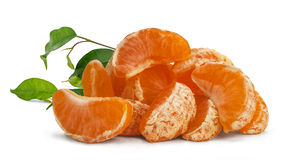 Mandarin segments Royalty Free Stock Photos