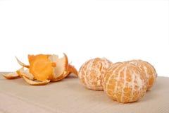 Mandarin with skin Stock Photo