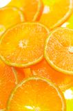 Mandarin slice. On white background Royalty Free Stock Images