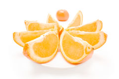 Mandarin and sliced orange Stock Photo