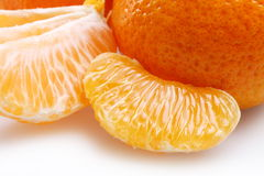Mandarin slices Stock Photos