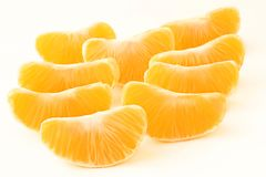 Mandarin slices. Stock Photo