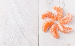 Mandarin slices Stock Photo