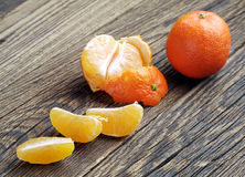 Mandarin and slices Stock Image
