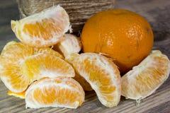 Mandarin slices Royalty Free Stock Photo