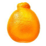 Mandarin, tangerine citrus fruit isolated on white background. With clipping path Stock Image