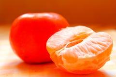 Mandarin. A tangerine to stock up on vitamins Stock Photo