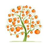 Mandarin tree for your design Stock Photo