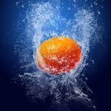 Mandarin under water Stock Photo