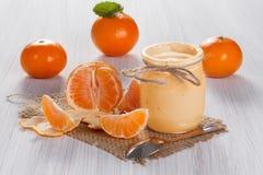 Mandarin yogurt Royalty Free Stock Images