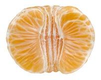 Mandarina aislada en blanco Foto de archivo