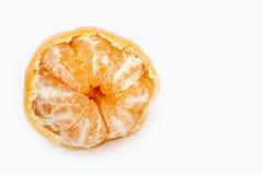Mandarina aislada en blanco Imágenes de archivo libres de regalías