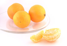 Mandarina aislada en el fondo blanco Foto de archivo libre de regalías
