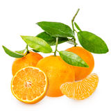 Mandarina con segmentos imagen de archivo libre de regalías