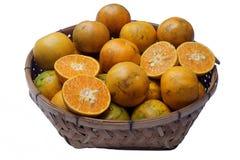 Mandarina de Mot de la explosión es un cultivar local de la mandarina producida en el área de Mot de la explosión de Thon Buri, B imagenes de archivo